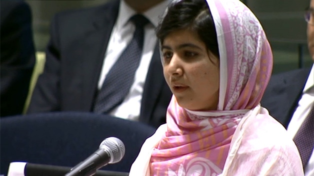 Malala speaks at the UN